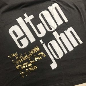 Elton John The Million Dollar Piano Tour T Shirt